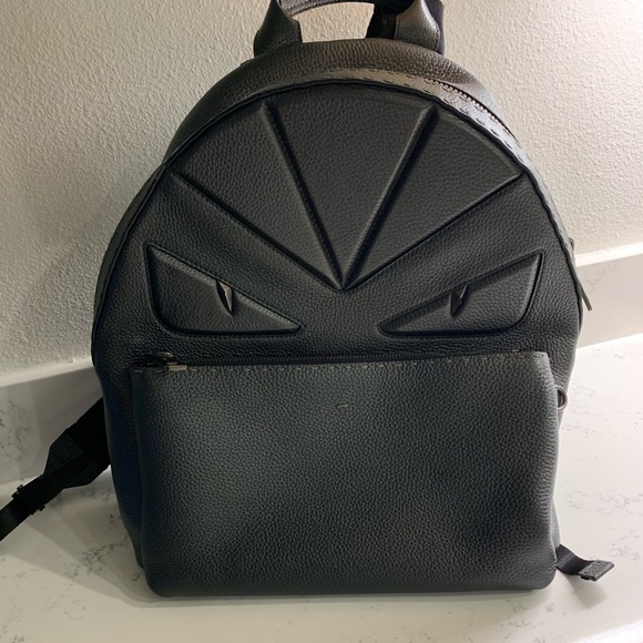 Fendi Handbags - Fendi all black Roman leather bug eyes .Best offer 71e62b5ae8bb1